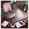 RollaMat Vinyl Chair Mat for Med Pile Carpet, Beveled Edge, 36 x 48&quot;, Clear