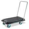 deflecto Heavy-Duty Platform Cart, 500lb Capacity, 20 9/10w x 32 5/8d x 9h, Black