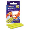 Prang Hygieia Dustless Board Chalk, 3 1/4 x 3/8, Yellow, 12/Box