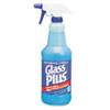 Glass Plus Glass Cleaner, 32oz Spray Bottle, 12/Carton