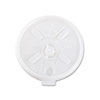 Dart Translucent Lids for 12-24oz Foam Cups, Straw Slot, 1000/Carton