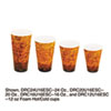 Dart Foam Hot/Cold Cups, 16oz, Brown/Black, 1000/Carton