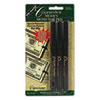 Smart Money Counterfeit Bill Detector Pen for Use w/U.S. Currency, 3/Pack