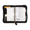 Day-Timer Bonded Leather Organizer Starter Set, 3-3/4 x 6-3/4, Black
