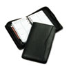 Verona Leather Zippered Organizer Starter Set, 3-3/4 x 6-3/4, Black