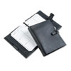 Verona Leather Organizer Starter Set wFlex-Tab Closure, 5-1/2 x 8-1/2, Black