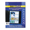 Day-Timer Business Card Holders for Looseleaf Planners, 8 1/2 x 11, 5/Pack