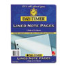 Day-Timer Lined Note Pads for Organizer, 8-1/2 x 11, 48 Sheets/Pack
