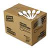 Dixie Plastic Cutlery, Mediumweight Teaspoons, White, 1000/Carton