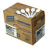 Dixie Plastic Cutlery, Heavyweight Soup Spoons, White, 1000/Carton