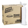 Dixie Plastic Lids for Hot Drink Cups, 8oz, White, 1000/Carton