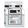 DYMO Rhino Permanent Poly Industrial Label Tape Cassette, 3/8in x 18ft, White