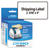 DYMO Shipping Labels, 2-5/16 x 4, White, 300/Box