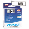 D1 Standard Tape Cartridge for Dymo Label Makers, 3/8in x 23ft, Black on White