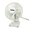 Boston 4-inch Two-Speed Personal Desk Fan, Plastic, White