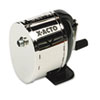 X-ACTO L Table-Mount/Wall-Mount Manual Pencil Sharpener, Black/Chrome