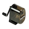 X-ACTO Manual Pencil Sharpener, Counter/Wall-Mount, Translucent Smoke/Black