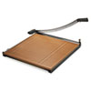 "Wood Base Guillotine Trimmer, 20 Sheets, Wood Base, 24""X24"