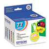 Epson T077920 (77) High-Yield Ink, Cyan; Light Cyan; Light Magenta; Magenta; Yellow