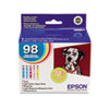 Epson T098920 (99) Claria High-Yield Ink, 5/Pack, Assorted