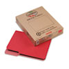 Recycled File Folders, 1/3 Cut Top Tab, Letter, Red, 100/Box