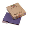 Recycled File Folders, 1/3 Cut Top Tab, Letter, Violet, 100/Box