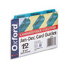 Laminated Index Card Guides, Monthly, 1/3 Tab, Manila, 4 x 6, 12/Set