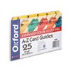 Laminated Index Card Guides, Alpha, 1/5 Tab, Manila, 5 x 8, 25/Set
