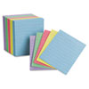 Oxford Ruled Mini Index Cards, 3 x 2 1/2, Assorted, 200/Pack