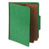 Pendaflex Pressguard Classification Folders, Letter, Six-Section, Green, 10/Box