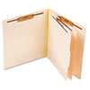 Manila Pressboard End Tab Classification Folders, Letter, Six-Section, 10/Box