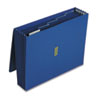 Colored Poly Wallet, 5 1/4 Inch Expansion, 6 Pockets, 12 x 10, Dark Blue