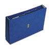 Colored Poly Wallet, 5 1/4 Inch Expansion, 6 Pockets, 15 x 10, Dark Blue