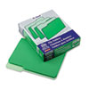 Two-Tone File Folders, 1/3 Cut Top Tab, Letter, Green/Light Green, 100/Box