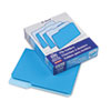 Two-Tone File Folders, 1/3 Cut Top Tab, Letter, Blue/Light Blue, 100/Box