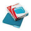 Two-Tone File Folders, 1/3 Cut Top Tab, Letter, Teal/Light Teal, 100/Box
