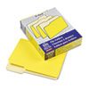 Two-Tone File Folders, 1/3 Cut Top Tab, Letter, Yellow, Light Yellow, 100/Box