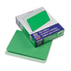 Two-Tone File Folders, Straight Cut, Top Tab, Letter, Green/Light Green, 100/Box
