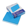 Two-Tone File Folders, Straight Cut, Top Tab, Letter, Blue/Light Blue, 100/Box