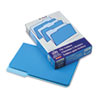 Two-Tone File Folders, 1/3 Cut Top Tab, Legal, Blue/Light Blue, 100/Box