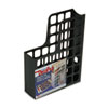 DecoFile Plastic Magazine File, 3 x 9 1/2 x 12 1/2, Black