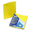 Pendaflex Essentials Essentials Slash Pocket Project Folders, 3 Holes, Letter, Yellow, 25/Pack
