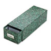 Oxford Reinforced Board Card File with Pull Drawer Holds 1500 3 x 5 Cards, Green Marble