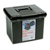 Portafile File Storage Box, Letter, Plastic, 11 x 14 x 11-1/8, Black