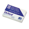 Oxford Ruled Index Cards, 4 x 6, White, 100/Pack