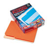 Interior File Folders, 1/3 Cut Top Tab, Letter, Orange, 100/Box