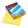 Pendaflex Interior File Folders, 1/3 Cut Top Tab, Letter, Yellow, 100/Box