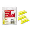Pendaflex Hanging File Folder Tabs, 1/5 Tab, Two Inch, Yellow Tab/White Insert, 25/Pack