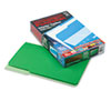 Interior File Folders, 1/3 Cut Top Tab, Legal, Green, 100/Box