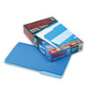 Pendaflex Interior File Folders, 1/3 Cut Top Tab, Legal, Blue, 100/Box